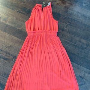 Michael Kors pink pleated Georgette dress